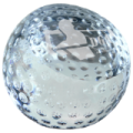 "3 1/8"" Crystal Golf Ball Paperweight"